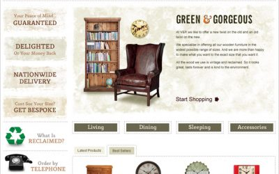 Optimise Launches Magento Website for Vintage & Reclaimed Furniture