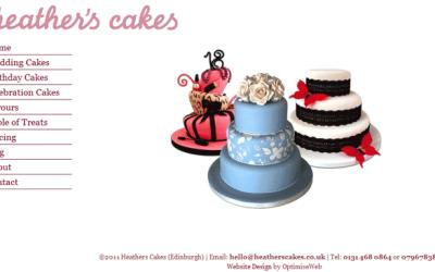 Bespoke WordPress Website for Heathers Cakes